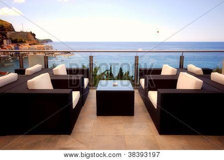 Beautiful Terrace View Of Mediterranean Seascape