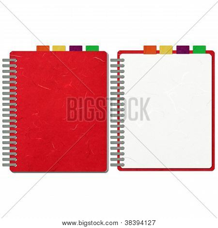 Rice Paper Cut Red Blank Note Book