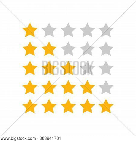 Five Star Icon. 5 Stars. Vector Illustration Eps 10