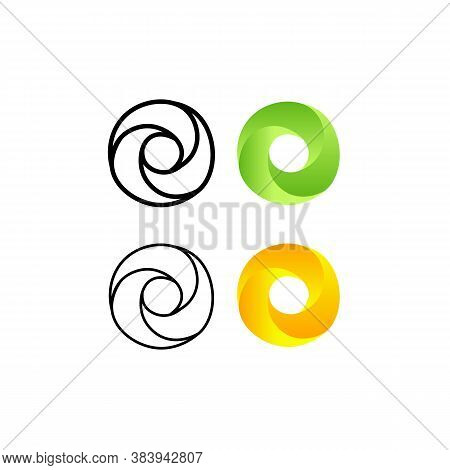 Set Abstract Infinite Loop Template Icon. Vector Illustration Eps 10