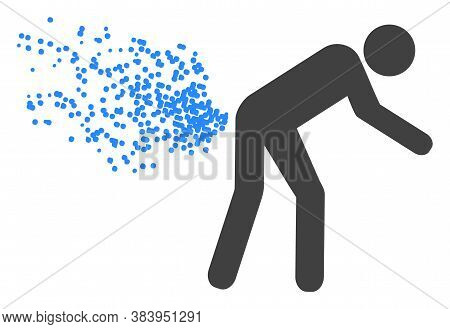 Farting Person Icon On A White Background. Isolated Farting Person Symbol With Flat Style.