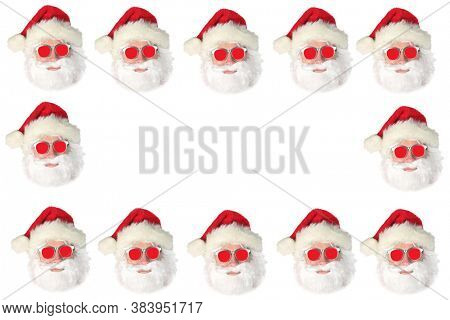 Santa Claus. Christmas Theme. Santa Claus Repeating Pattern. Room for text or images. Photo Frame or Business Card Design.