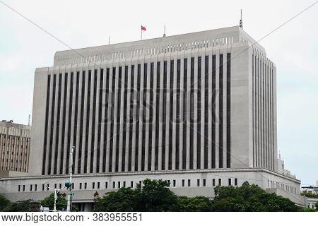 Taipei, Taiwan - October 12, 2018: The Beautiful Vintage Building Near The Chiang Kai Shek Memorial