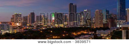 Miami Night Panorama