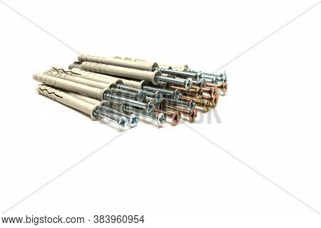 Bunch Of Different Dowel Nails For Attaching To Dense Materials As Brick, Stone, Concrete. Type Of F