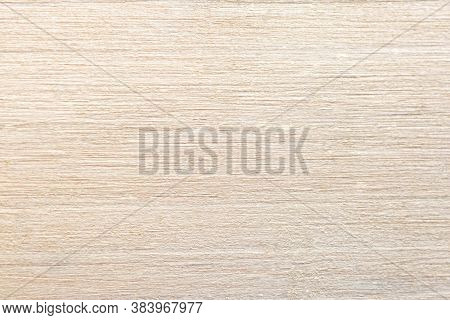 Texture Of White Painted Wood. Abstract Wooden Light Background. Pale Yellow Shade Of Natural Paint.