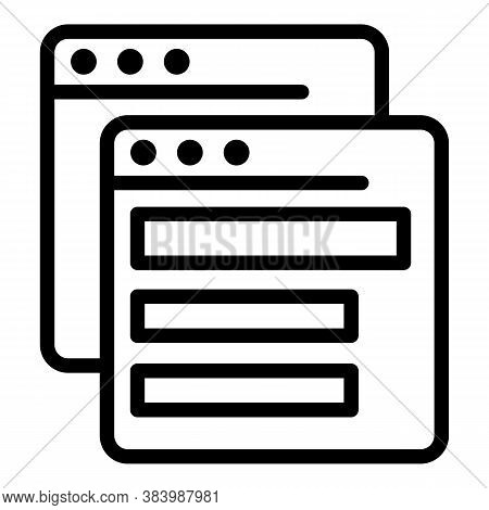 Web Pages Icon. Outline Web Pages Vector Icon For Web Design Isolated On White Background