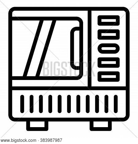 Convection Oven Icon. Outline Convection Oven Vector Icon For Web Design Isolated On White Backgroun