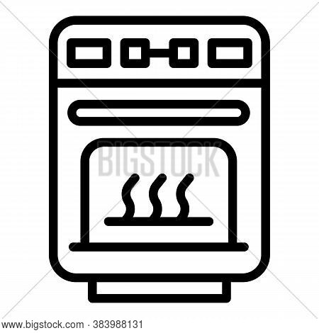 Electric Convection Oven Icon. Outline Electric Convection Oven Vector Icon For Web Design Isolated