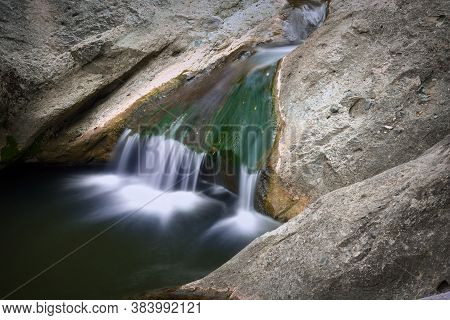 Transylvanian Landscape Waterfall, La Gavane, Apuseni Mountains In Transylvania