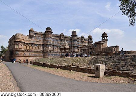 Gwalior, Madhya Pradesh/india : March 15, 2020 - 'gwalior Fort' It Is Hill Fort Near Gwalior And Des