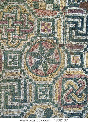 Antique Roman Floor Mosaic