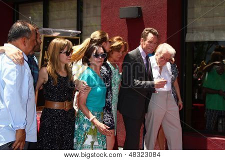 LOS ANGELES - JUL 16:  Bryan Cranston, Family at the Hollywood Walk of Fame Star Ceremony for Bryan Cranston at the Redbury Hotel on July 16, 2013 in Los Angeles, CA