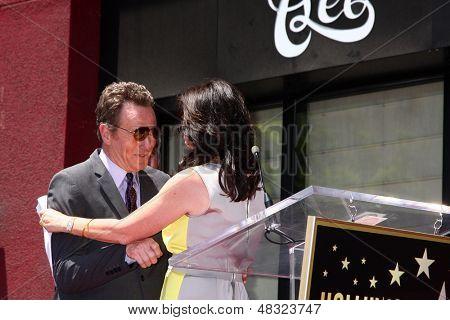 LOS ANGELES - JUL 16:  Bryan Cranston, Jane Kaczmarek at the Hollywood Walk of Fame Star Ceremony for Bryan Cranston at the Redbury Hotel on July 16, 2013 in Los Angeles, CA