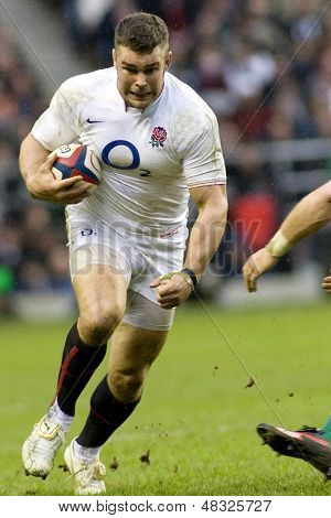 TWICKENHAM LONDON, 27/02/2010. England player Nick Easter  during the RBS 6 Nations rugby union match between England and Ireland at the Twickenham Stadium.