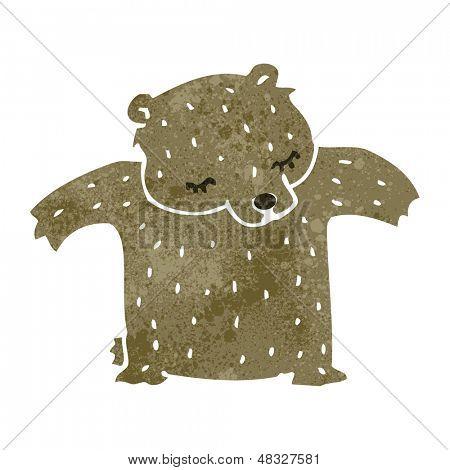 cute retro cartoon bear