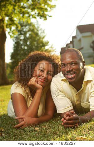 Happy blissful couple