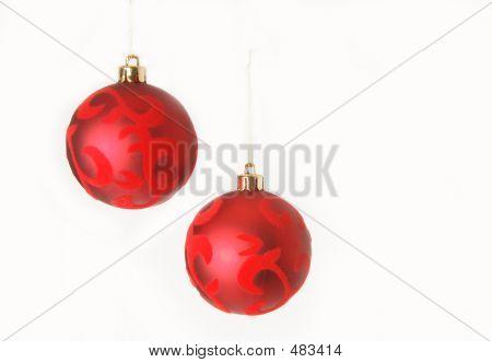 Two Red Christmas Balls