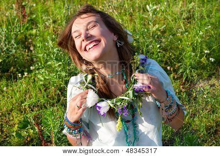 Portrait Happy Laughs Women