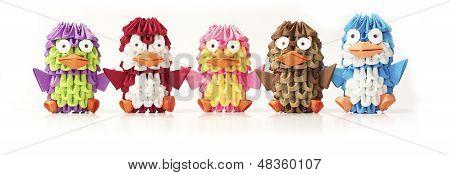 Origami penguins.