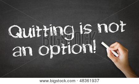Desistir não é uma opção giz ilustração