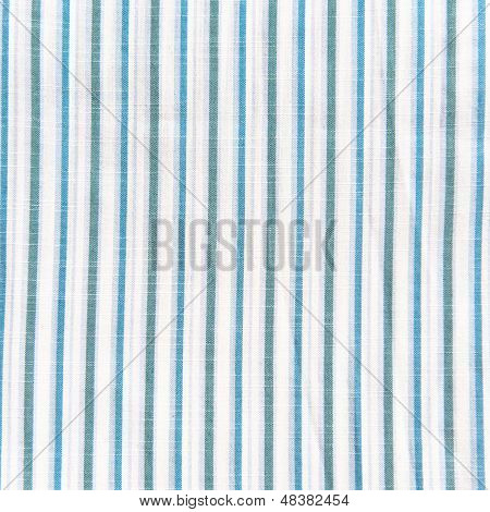 Blue and white linen fabric texture striped background poster