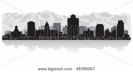 Salt Lake City Skyline Silhouette
