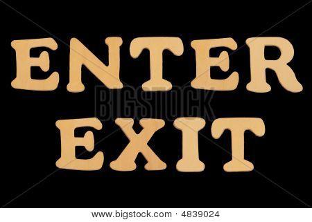 Wooden Word Enterexit