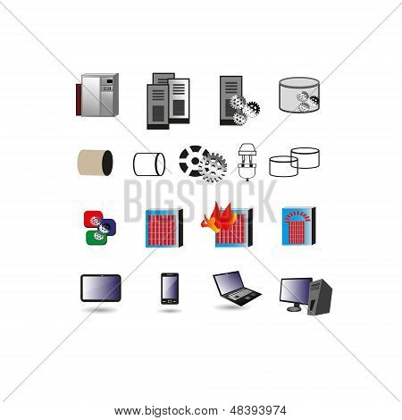 Collection of Information technology Icon, Symbols