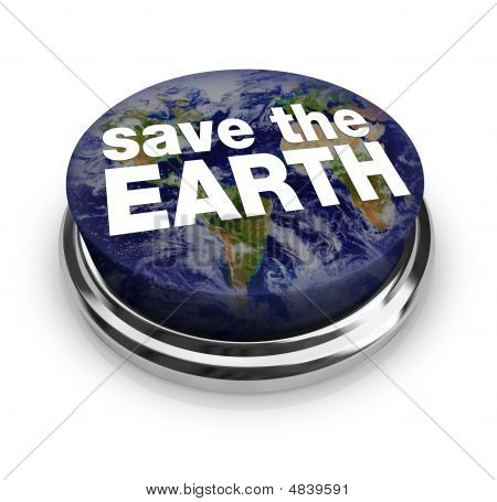 Save The Earth Button
