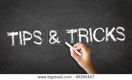 Dicas e truques giz ilustração