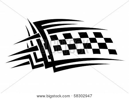 Tribal sports tattoo