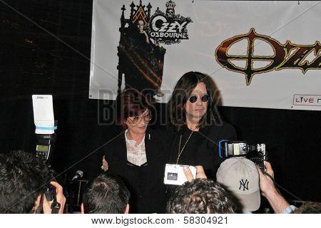 Sharon Osbourne and Ozzy Osbourne at the OZZFEST 2007 press conference. Century Plaza Hotel, Century City, CA. 02-06-07