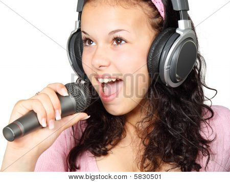 Woman Singing Along