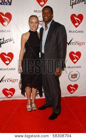 Josephine Jacob and Roger Cross at the 2007 MusiCares Person of the Year Honoring Don Henley. Los Angeles Convention Center, Los Angeles, CA. 02-09-07