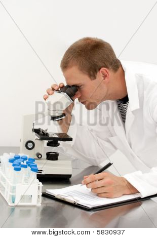 Young Male Lab Technician Scientist