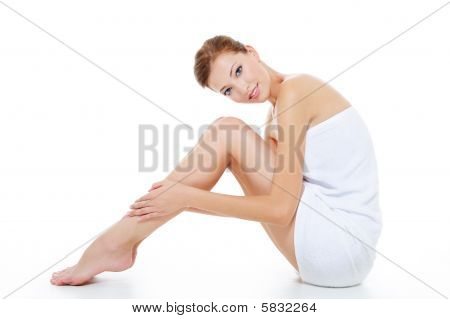 Female With Beautiful Legs