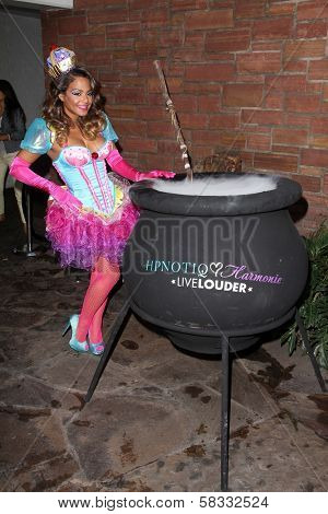 Christina Milian at the HPNOTIQ Liqueur Launch, Beacher's Madhouse, Hollywood, CA 10-26-12