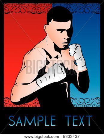 arte deco boxer vector