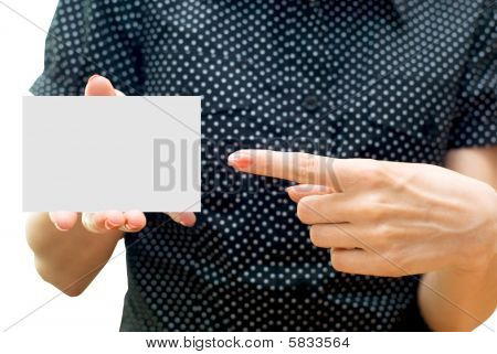 Empty Business Card