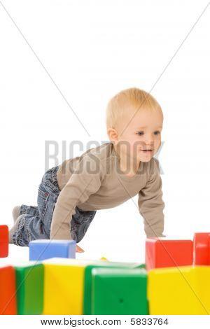 Boy Play With Bricks