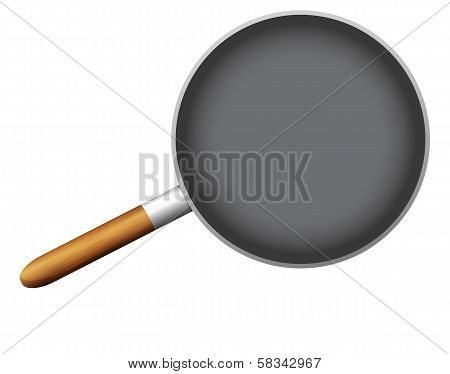 Empty Pan On White Background