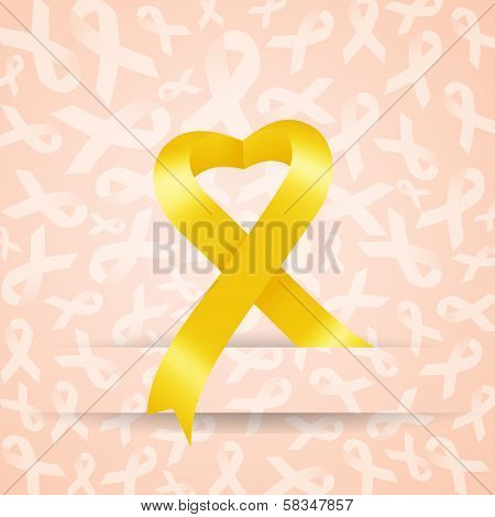 Yellow Ribbon with heart