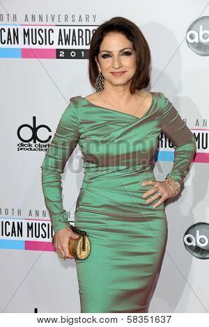 Gloria Estefan at the 40th American Music Awards Arrivals, Nokia Theatre, Los Angeles, CA 11-18-12