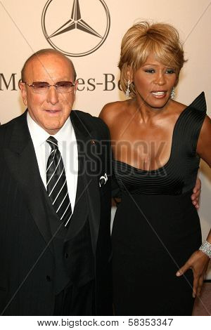 Clive Davis and Whitney Houston at the 17th Carousel of Hope Ball to benefit The Barbara Davis Center for Childhood Diabetes. Beverly Hilton Hotel, Beverly Hills, CA. 10-28-06