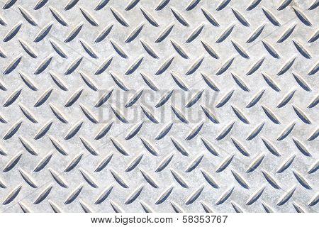 Texture of a metal diamond plate
