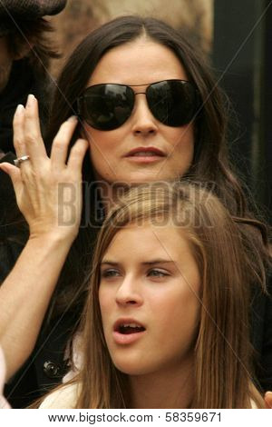 Demi Moore and Tallulah Belle Willis at the Ceremony honoring Bruce Willis with the 2,321st star on the Hollywood Walk of Fame. Hollywood Boulevard, Hollywood, CA. 10-16-06
