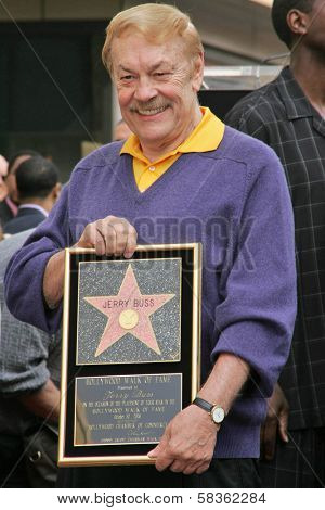 Jerry Buss  at the Ceremony Honoring Los Angeles Lakers Owner Jerry Buss with the 2,323rd star on the Hollywood Walk of Fame. Hollywood Boulevard, Hollywood, CA. 10-30-06