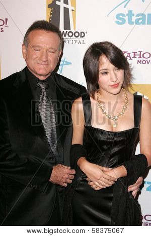 Robin Williams and Zelda Williams at the Hollywood Film Festival's 10th Annual Hollywood Awards Gala. Beverly Hilton Hotel, Beverly Hills, CA. 10-23-06