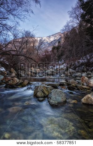 Cold Stones On The Winter River